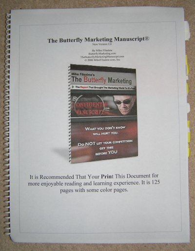 Mike Filsaime's Butterfly Marketing Manuscript
